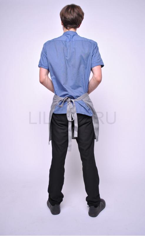 Фартук для персонала Lilacs Beat, серый