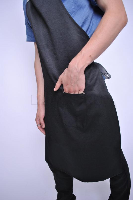 Фартук длинный LILACS ENZO, черный/серый