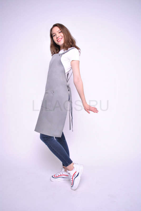 Фартук LILACS NATURA, серый