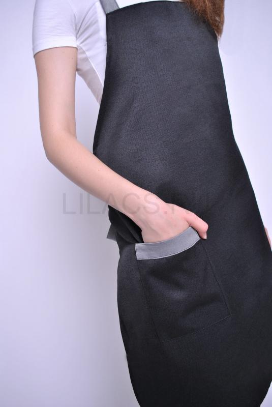 Фартук LILACS BLAMMO, черный/серый