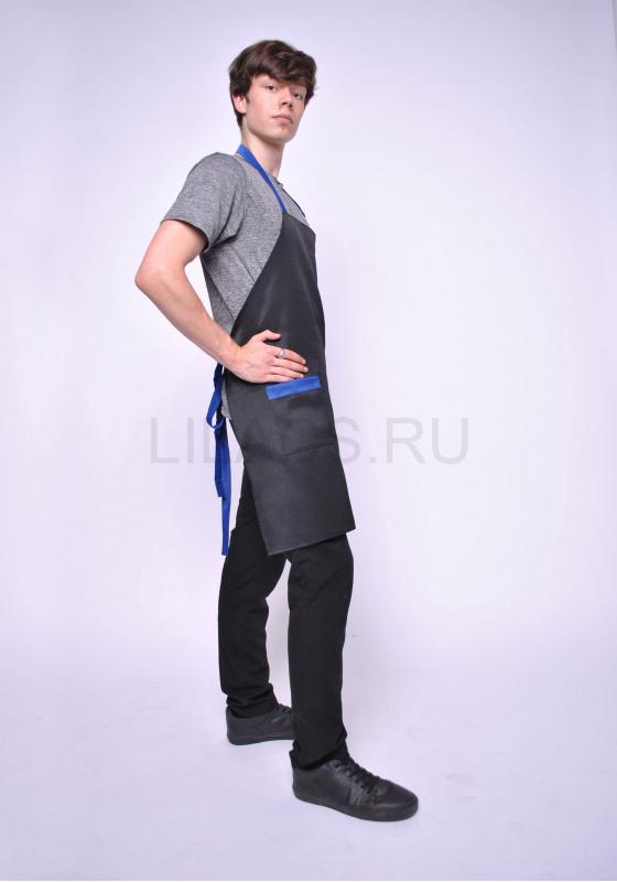 Фартук LILACS BLAMMO, черный/синий