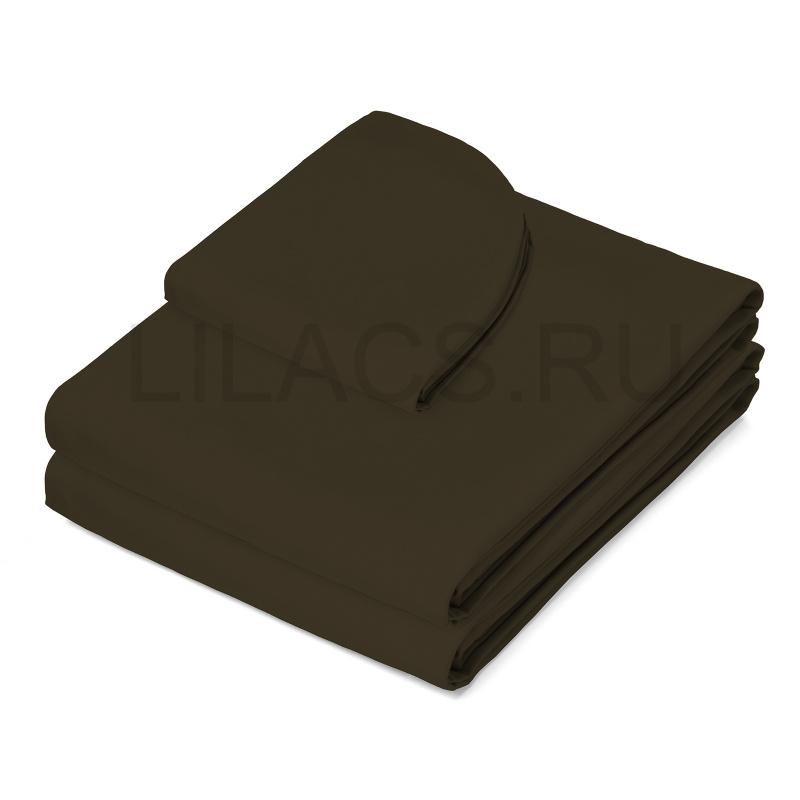Простынь для массажного стола на резинке, коричневая