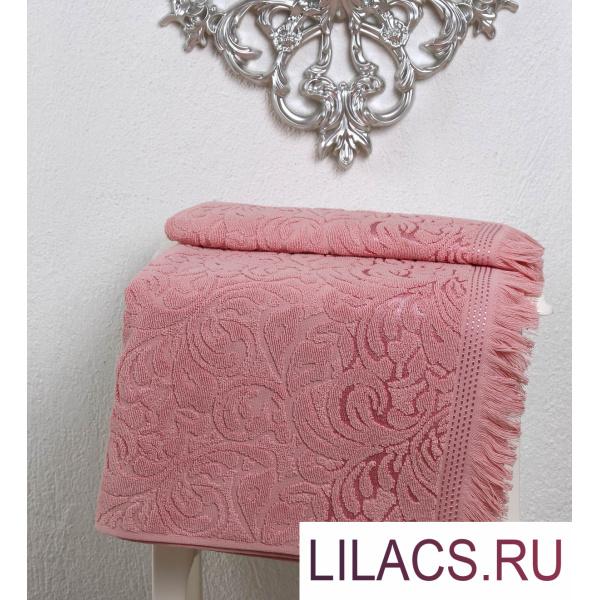 2194 Полотенце махровое «KARNA» ESRA (50х90) см 1/1 Розовый