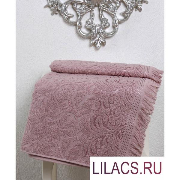 2194 Полотенце махровое «KARNA» ESRA (50х90) см 1/1 Грязно-розовый