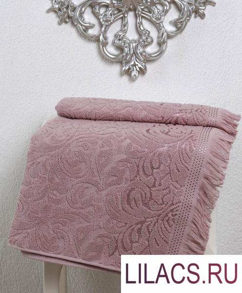 2195 Полотенце махровое «KARNA» ESRA (70x140) см 1/1 Грязно-розовый