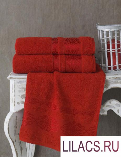2657 Полотенце махровое «KARNA» REBEKA (50x90) см 1/1 Красный
