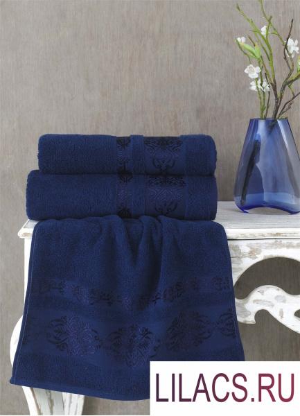 2658 Полотенце махровое «KARNA» REBEKA (70x140) см 1/1 Синий