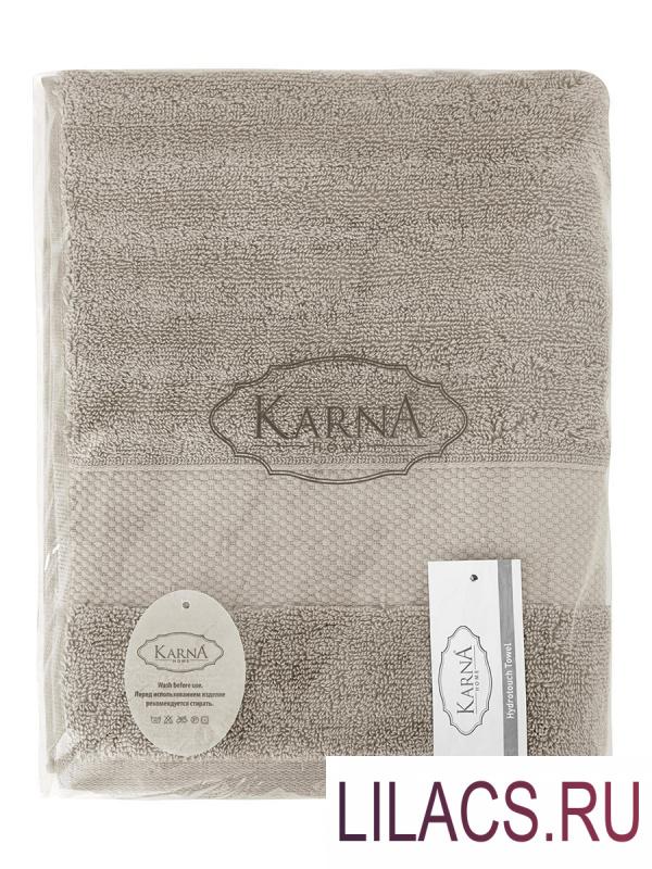 """3517 Полотенца махровое """"KARNA"""" FLOW 40х60 см 1/1 Кофейный"""