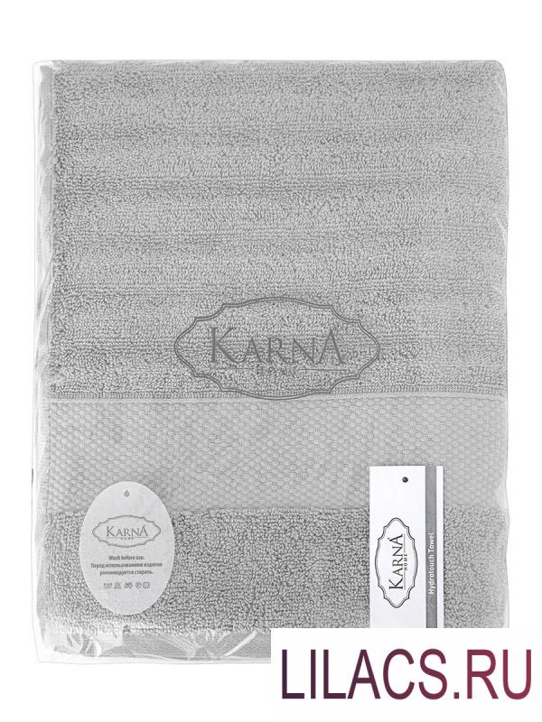 "3519 Полотенца махровое ""KARNA"" FLOW 70х140 см 1/1 Серый"