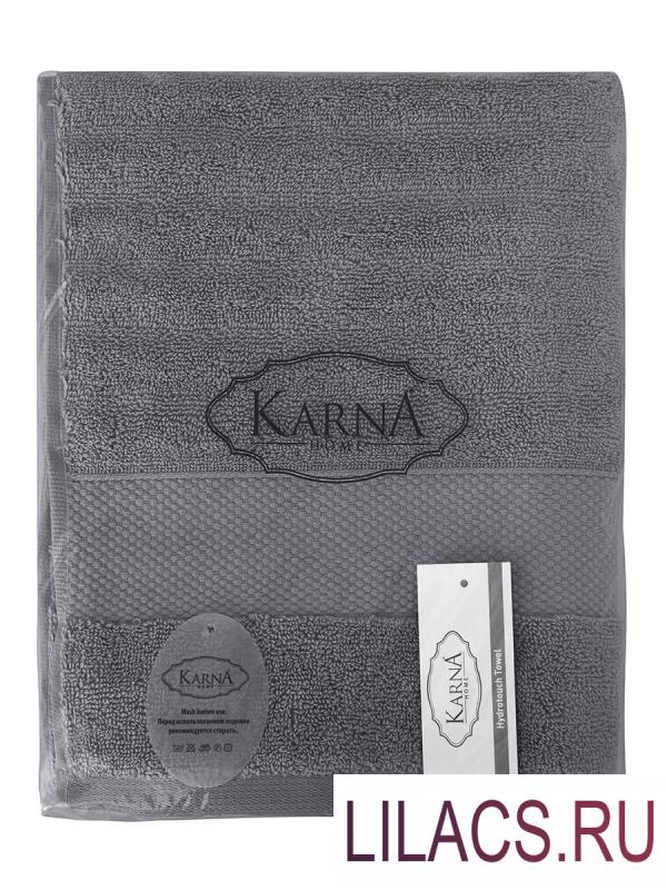 "3517 Полотенца махровое ""KARNA"" FLOW 40х60 см 1/1 Темно-Серый"