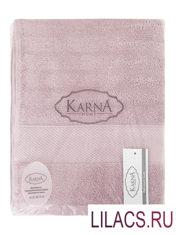"3517 Полотенца махровое ""KARNA"" FLOW 40х60 см 1/1 Светло-лаванда"