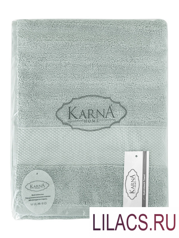 "3517 Полотенца махровое ""KARNA"" FLOW 40х60 см 1/1 Зеленый"