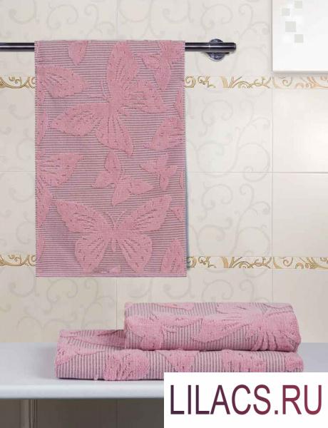 BTP-4053476Р Полотенце махровое «Гутен Морген» «Баттерфляй» розовый 34х76 см 1 сорт