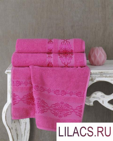 2658 Полотенце махровое «KARNA» REBEKA (70x140) см 1/1 Розовый