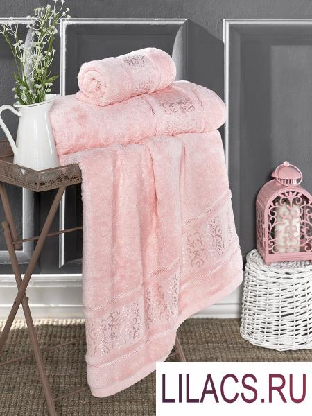3307 Полотенце бамбуковое «KARNA» ARMOND 50х90 см 1/1 Розовый