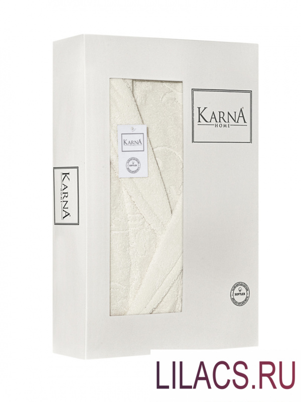 """3464 Халат """"KARNA"""" махровый NEVA (Натурал) L (42)"""