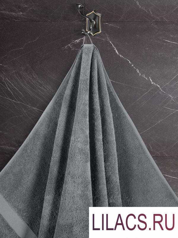 """3594 Комплект махровых полотенец """"KARNA"""" 4 шт AREL 50x100*2-70x140*2 см Серый"""