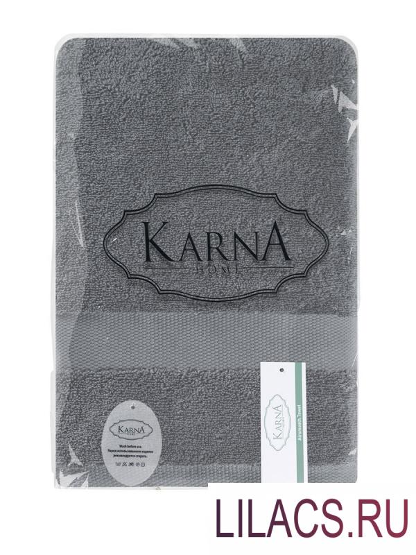 "3567 Полотенца махровое ""KARNA"" AREL 50х100 1/1 Серый"