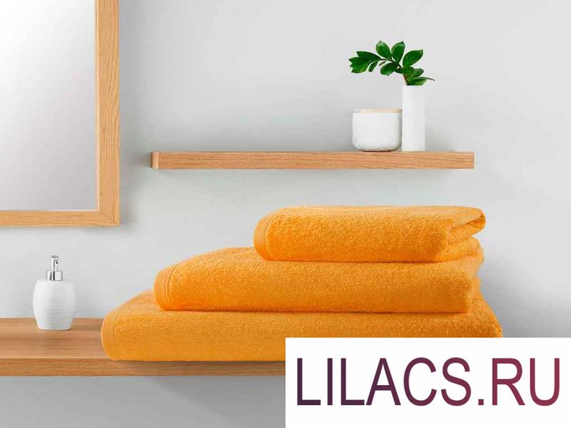 ПМЛо-100-150 Полотенце махровое Guten Morgen, цвет: Оранжевый 100х150 см 1 сорт