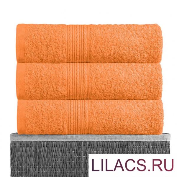 Оранжевый 70х140 Полотенца махровое 1 шт BAYRAMALY