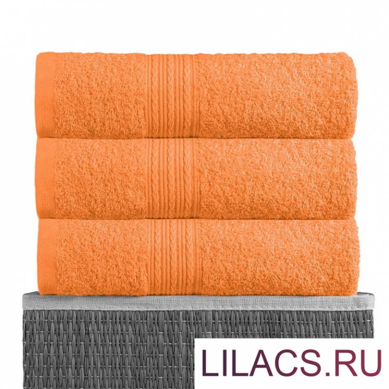 Оранжевый 50х90 Полотенца махровое 1 шт BAYRAMALY