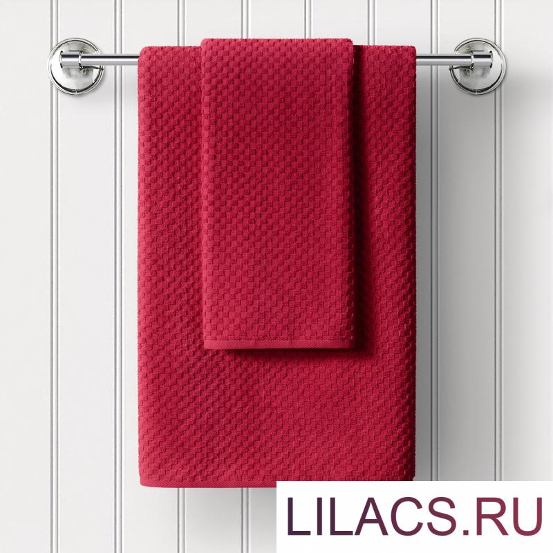 ПМКкрас-70-130 Полотенце махровое Guten Morgen Керби, цвет: Красный 70х130 1 сорт