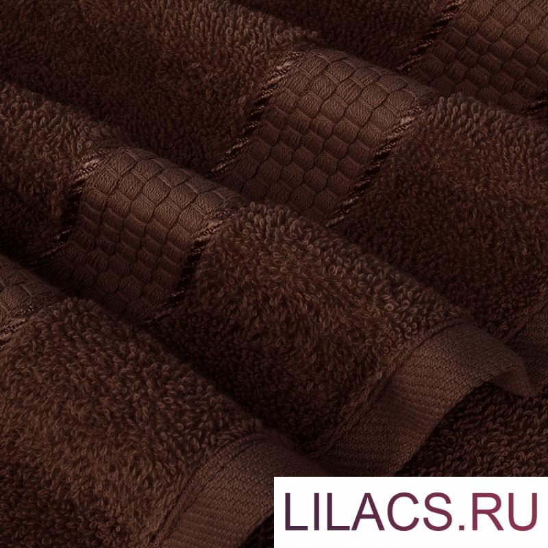 Набор из 2 полотенец Eleganta (Marakesh) (50х80 см + 70х130 см) Махра 390 г/м2, 1105 Темный шоколад (коричневый)