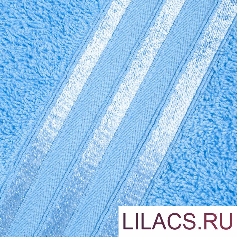 Набор из 4 полотенец (2 цвета) DOME Harmonika Махра 440 г/м2, 1061 Голубой + 1065 Синий (50х80 см - 2 шт, 70х130 см - 2 шт)