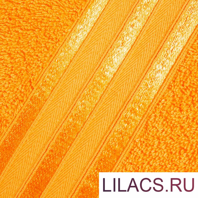 Набор из 4 полотенец (2 цвета) DOME Harmonika Махра 440 г/м2, 1048 Оранжевый + 1079 Морская Волна (50х80 см - 2 шт, 70х130 см - 2 шт)