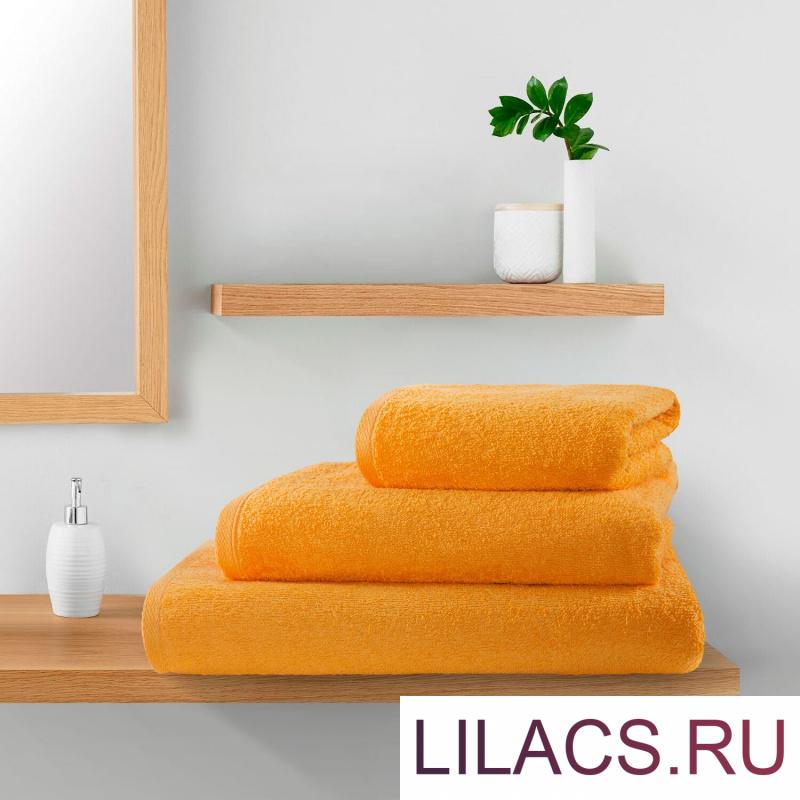 КПМ-оранж-70-90-140 Набор полотенец (3 штуки) цвет: Оранжевый 70х140, 50х90, 40х70