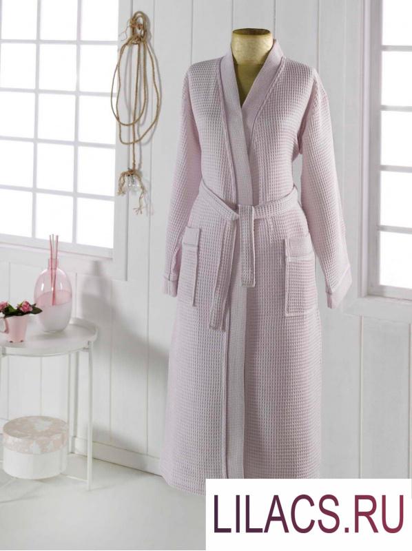 S.140сс NEVA S (светло сирен) Халат вафельный кимоно